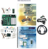 Parallax BASIC Stamp Discovery Kit - Serial (with USB adapter and cable) #27207