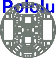 """Pololu 5"""" Robot Chassis RRC04A Transparent Gray"""
