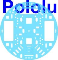 "Pololu 5"" Robot Chassis RRC04A Transparent Light-Blue"