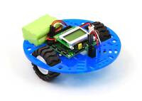 """Pololu 5"""" round robot chassis RRC04A with an Orangutan SV-328 mounted flush with the chassis."""