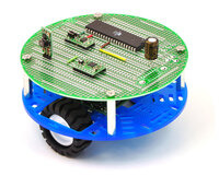 "Pololu 5"" round robot chassis RRC04A with PCB01A 5"" round prototyping PCB."