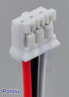 3-pin JST cable connector for use with Sharp distance sensors.