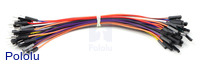 Premium Jumper Wire 50-Piece Rainbow Assortment M-F 6""