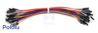 "Premium Jumper Wire 50-Piece Rainbow Assortment M-F 6"""