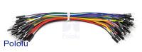"Premium Jumper Wire 50-Piece Rainbow Assortment M-M 6"""