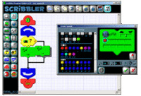 Graphic-based program for the Scribbler Robot.