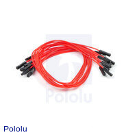 "Premium Jumper Wire 10-Pack F-F 12"" Red"