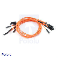"Premium Jumper Wire 10-Pack F-F 12"" Orange"