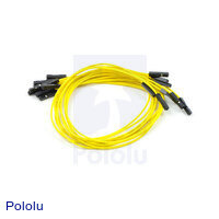 "Premium Jumper Wire 10-Pack F-F 12"" Yellow"