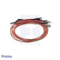 "Premium Jumper Wire 10-Pack M-F 12"" Brown"