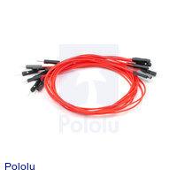 "Premium Jumper Wire 10-Pack M-F 12"" Red"