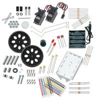 Parts included in the Boe-Bot Robot Kit.
