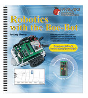 Robotics with the Boe-Bot text included in the Boe-Bot Robot Kit.
