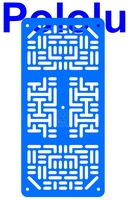 Pololu RP5/Rover 5 Expansion Plate RRC07A (Narrow) Solid Light-Blue