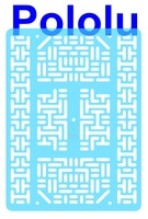 Pololu RP5/Rover 5 Expansion Plate RRC07B (Wide) Transparent Light-Blue