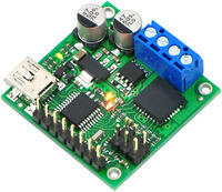 Pololu jrk 21v3 USB motor controller with included hardware soldered in (fully assembled).