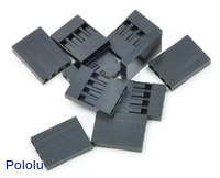 """0.1"""" (2.54mm) Crimp Connector Housing: 1x4-Pin 10-Pack"""