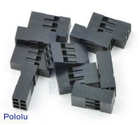 """0.1"""" (2.54mm) Crimp Connector Housing: 2x3-Pin 10-Pack"""