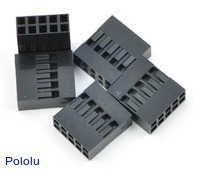 """0.1"""" (2.54mm) Crimp Connector Housing: 2x5-Pin 5-Pack"""