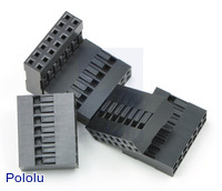 """0.1"""" (2.54mm) Crimp Connector Housing: 2x7-Pin 5-Pack"""
