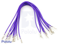 "Wires with Pre-crimped Terminals 10-Pack F-F 6"" Purple"
