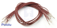 "Wires with Pre-crimped Terminals 10-Pack F-F 12"" Brown"
