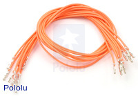 "Wires with Pre-crimped Terminals 10-Pack F-F 12"" Orange"
