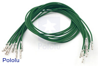 "Wires with Pre-crimped Terminals 10-Pack F-F 12"" Green"