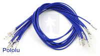 "Wires with Pre-crimped Terminals 10-Pack F-F 12"" Blue"