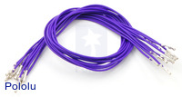 "Wires with Pre-crimped Terminals 10-Pack F-F 12"" Purple"