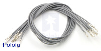 "Wires with Pre-crimped Terminals 10-Pack F-F 12"" Gray"