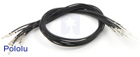 "Wires with Pre-crimped Terminals 10-Pack M-F 12"" Black"