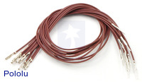 "Wires with Pre-crimped Terminals 10-Pack M-F 12"" Brown"