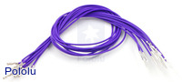 "Wires with Pre-crimped Terminals 10-Pack M-F 12"" Purple"