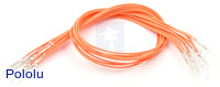 "Wires with Pre-crimped Terminals 10-Pack M-M 12"" Orange"