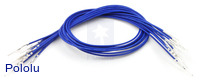 "Wires with Pre-crimped Terminals 10-Pack M-M 12"" Blue"