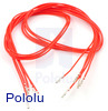 "Wires with Pre-Crimped Terminals 5-Pack F-F 24"" Red"