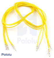 "Wires with Pre-crimped Terminals 5-Pack F-F 24"" Yellow"