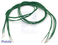 "Wires with Pre-crimped Terminals 5-Pack F-F 24"" Green"