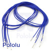 "Wires with Pre-crimped Terminals 5-Pack F-F 24"" Blue"