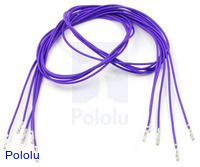 "Wires with Pre-crimped Terminals 5-Pack F-F 24"" Purple"