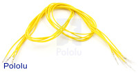 "Wires with Pre-crimped Terminals 5-Pack M-F 24"" Yellow"