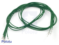 "Wires with Pre-crimped Terminals 5-Pack M-F 24"" Green"