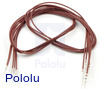 """Wires with Pre-Crimped Terminals 5-Pack M-M 24"""" Brown"""