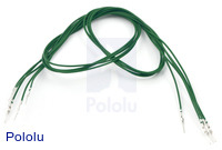 "Wires with Pre-crimped Terminals 5-Pack M-M 24"" Green"