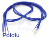 """Wires with Pre-Crimped Terminals 5-Pack M-M 24"""" Blue"""