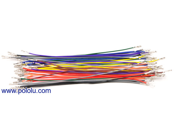 Pololu - Wires with Pre-Crimped Terminals 50-Piece 10-Color ...