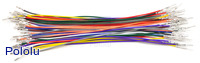 Wires with Pre-crimped Terminals 50-Piece Rainbow Assortment M-F 6""