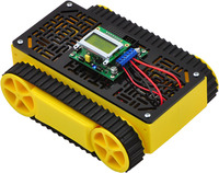 Yellow RP5 tracked chassis with expansion plate and Orangutan SV-328.