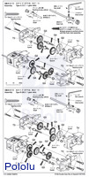 Instructions for Tamiya Double Gearbox page 2.